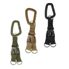 Outdoor Tactical Webbing Belt MOLLE Keychain Quick Release Buckle Key Ring