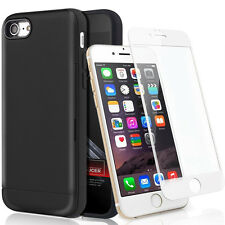 iPhone 6 & iPhone 6S Wallet Credit Card ID Holder Hybrid Slim Case+3D Glass Film