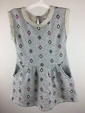 Girl's Toddler Circo Sleeveless Grey Summer Dress Pockets Terrycloth edge NWOT