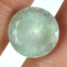 6.80 Cts Natural Aqua Blue Aquamarine Round Faceted Cut Rare Untreated Gemstone