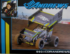 CORI ANDREWS 2017 SIGNED WORLD OF OUTLAWS LUCAS OIL K&N #22 RACING HANDOUT
