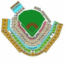 2 tickets Pirates vs Cubs Thursday 9/7 section 107 row F  PNC Park