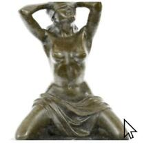 Bronze Nude French Maas Erotic Sculpture Statue Figurine Marble Base Figure BM