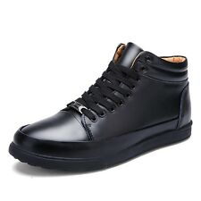 Genuine Leather Mens Ankle Boots Shoes Autumn Casual Mens Boots Waterproof Boots