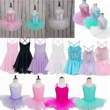 Girls Gymnastics Dancing Dress Kids Ballet Tutu Dancewear Leotard Skirt Costume!