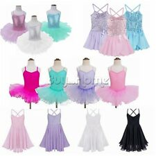 Ballet Tutu Princess Dress Up Dance Wear Costume Party Girls Leotard Kids Skirt