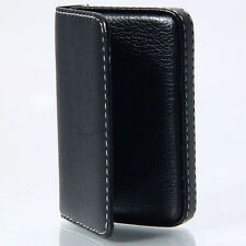 Fine Luxury Mens Leather Business Credit Card Name ID Credit Card Holder Wallet