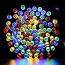 100/200/300/400 LED MULTI COLOURED STRING LIGHTS SOLAR FAIRY LIGHTS GARDEN PARTY