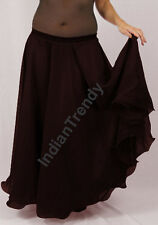 Coffee - 2 Layer Reversible Skirt Belly Dance Gypsy 9 Yd Fulll Circle Jupe Gonna
