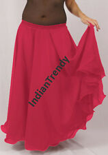 Deep Pink - 2 Layer Reversible Skirts Belly Dance Gypsy 9 Yd Fulll Circle Jupe