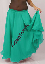 Turquoise - 2 Layer Reversible Skirts Belly Dance Gypsy 9 Yd Fulll Circle Jupe