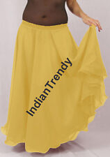 Yellow - 2 Layer Reversible Skirt Belly Dance Gypsy 9 Yd Fulll Circle Jupe Gonna