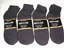 MENS BLACK DIABETIC ANKLE SOCKS 6 OR 12 PAIR SIZES 9-11,10-13,13-15 CASUAL USA