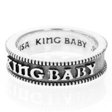 King Baby Studio Coin Edge Stackable Ring Silver K20-5905