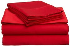 300,600,1000 TC 100% Egyptian Cotton RED Solid AU Bedding Items & All Size