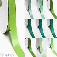 """double faced satin ribbon 2.5"""" /  75mm. wedding 5 yards, lime to green"""