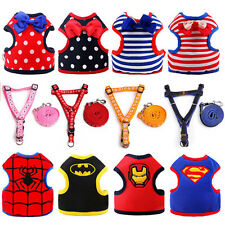 Adjustable Small Dog Puppy Harness Pet Soft Mesh Fabric Vest With Leash Clip HOT