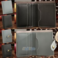 Women's PU Leather ID Credit Card Holder Clutch Bifold Coin Purse Wallet Pockets