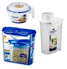 Lock & Lock 2 set of Cereal Dispenser Keeper Grain Snack Food Storage Container