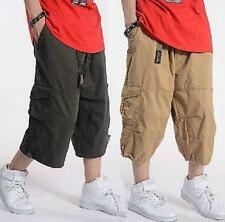 Hot Sale New Summer Mens Cargo Baggy Overalls Harem pants shorts Trousers Loose