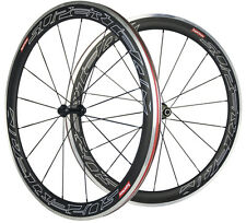 Superteam 700C 60mm Clincher Road Bike Wheelset Aluminum Braking Carbon Wheelset