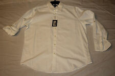 Murano Mens NWT $80 Long Sleeve Button Shirt, L Large or XL X-Large, White