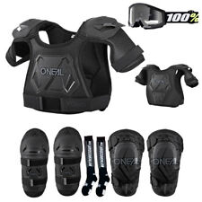 Kids Pee Wee Chest Protector, Knee Guards, Elbow Guards, Goggle and Sock Package