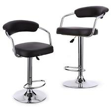 2Pcs Bar Stools Leather Modern Pneumatic Swivel Pub Counter Chair Barstools A4A1