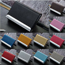 1Pcs Business Metal Leather Credit Card Bag Name Id Card Holder Case Wallet Box