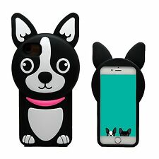 3D Cartoon Super Cute Puppy Dog Character, Soft Silicone iPhone Case/Cover, USA