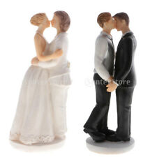MagiDeal Wedding Collectibles Romance Kiss Same Sex Gay Lesbian Cake Topper Gift