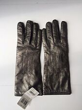 Coach Leather Cashmere Lined Gloves Metallic Size 7 NWT MSRP $128