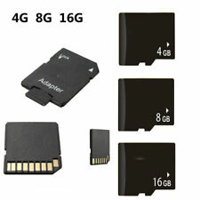 Micro SD 4G/8G/16G TF Flash Memory Card MicroSD +Adapter For Cell Phone
