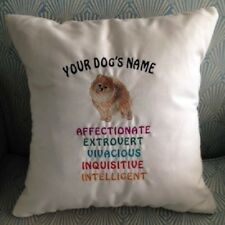 PERSONALIZED  EMBROIDERED AKC DOG BREED LOVER TRAITS THROW PILLOWS (BREEDS D-J)