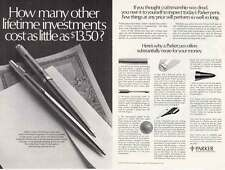 1977 Parker Pens: Other Lifetime Investments (16947) Print Ad