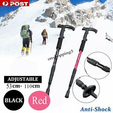 Retractable Anti Shock Walking Sticks Telescopic Trekking Hiking Poles Canes OP