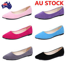 Women Low Heel Flat Shallow Mouth Shoes Pointed Toe Bridal Ballet Shoes Loafers
