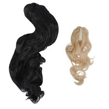 10X  S8 Natural Curly wavy Ponytail Long Hair Piece Hair Extension - Black,Gold