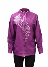 NWT BOB MACKIE'S Purple Embroidered Button Front Shirt Many Sizes 240613RM