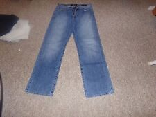 Lucky Brand Mens Dark Wash Blue 181 Relaxed Straight Jeans Size 34X34