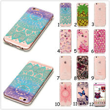 Rubber Patterned Silicone Clear Soft TPU Cute Back Cover Case For Smart Phones