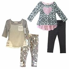NWT Self Esteem Toddler Girls Top & Legging 2 Piece Set Outfit - Size 3T