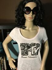 MTV Music Television Pink Women's T-Shirt NWT