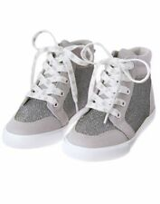NWT Gymboree Back to Blooms Girls/toddler Silver Sneakers Shoes High Top