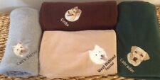 EMBROIDERED PERSONALIZED AKC DOG BREED LOVER FLEECE THROW BLANKETS (BREEDS A-C)