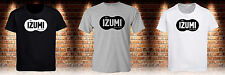 Black T-Shirt Izumi Retro Racing Japan Bike Cycling Grey White Tee Mens S-3XL
