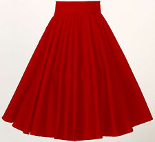 woman rockabilly clothing 1950's swing dance rock n roll red full circle skirt
