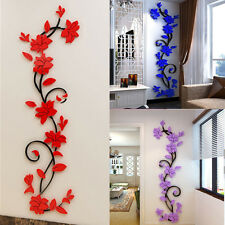 3D Removable Flower Wall Stickers Decals Vinyl Mural Art DIY Home Room Decor HS
