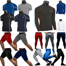 Mens Compression Armour Base Layer Tights Under Sports Shorts Pants Tops T-Shirt