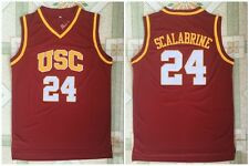 Brian Scalabrine #24 USC college Men Stitched Basketball Swingman Jersey
